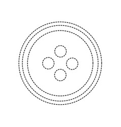 Dotted shape button object to sewing fashion vector