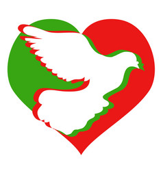 doves heart logo vector image