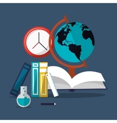Education and earth globe with academia related vector