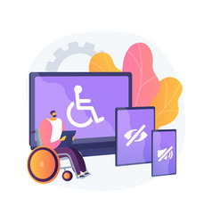 Electronic accessibility abstract concept vector