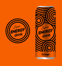 Energy drink flat logo vector