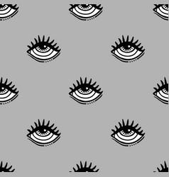 eye seamless pattern vector image