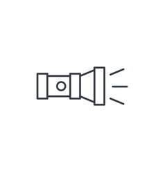 Flashlight thin line icon linear symbol vector