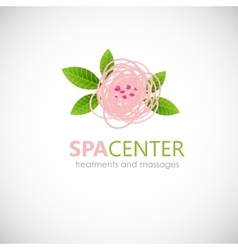 Floral symbol of spa Logo Icon vector image