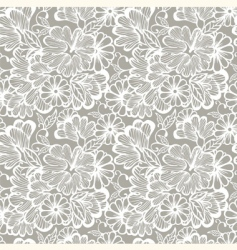 Floral wallpaper pattern vector
