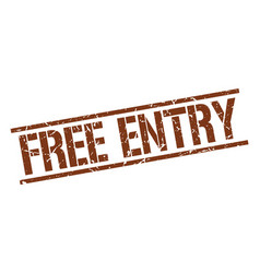 Free entry stamp vector