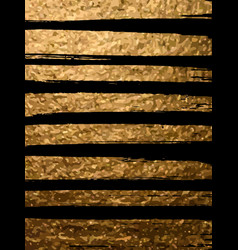 Gold brush stroke in black background design vector