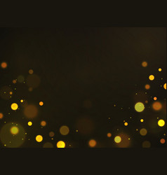 golden bokeh shiny defocused gold bokeh lights vector image