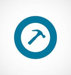 Hammer bold blue border circle icon vector