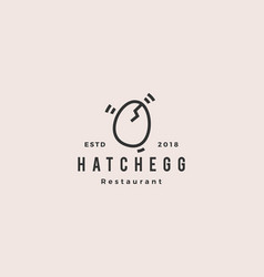 hatch egg logo hipster vintage retro icon vector image