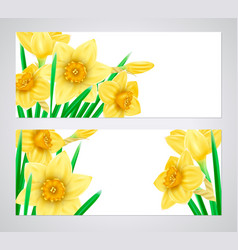 horizontal banners with high detailed yellow vector image