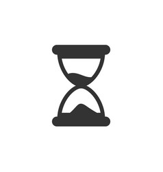 hourglass icon graphic design template vector image