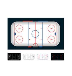 ice hockey arena hockey field set vector image
