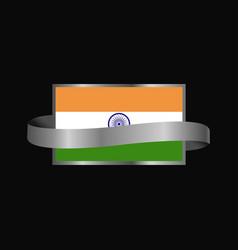 India flag ribbon banner design vector