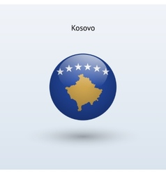 Kosovo round flag vector