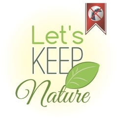 Lets keep nature vector image