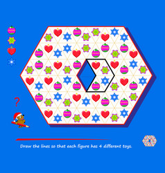 Logic puzzle game for children and adults draw vector