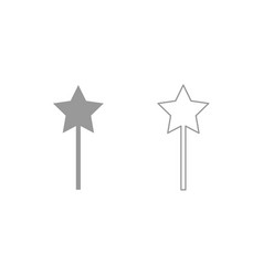 magic wand icon grey set vector image