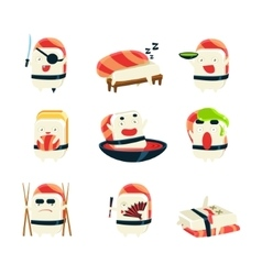 Maki Sushi Character Japan Themed Activities vector