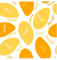 mango seamless pattern for your design vector image