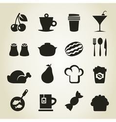 Meal icons9 vector