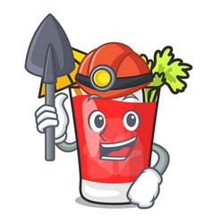 Miner bloody mary mascot cartoon vector