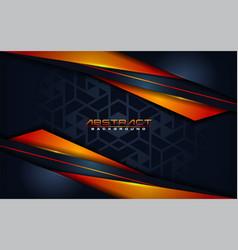 modern dark navy with futuristic orange lines vector image