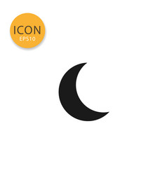 moon icon isolated flat style vector image
