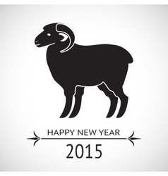 New Year sheep vector image