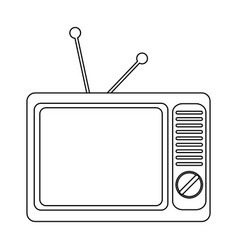 old vintage television black and white vector image