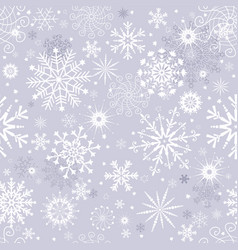 pastel gray winter seamless christmas pattern vector image