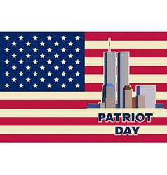 Patriot Day vintage design vector image