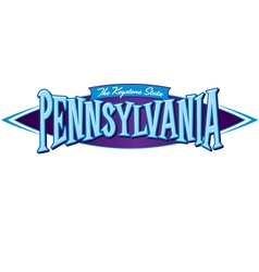 Pennsylvania The Keystone State vector