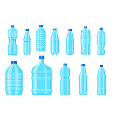 plastic water bottle empty drink container vector image