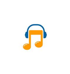 podcast music logo icon design vector image