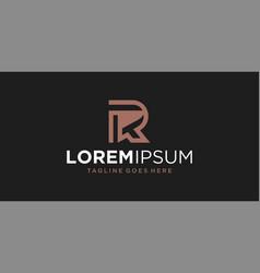r line logo design inspiration vector image