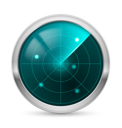 radar icon white background for design vector image