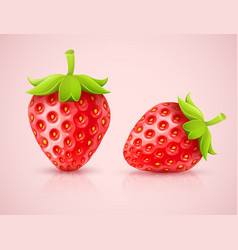 Red strawberries vector