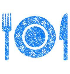 restaurant tableware grunge icon vector image