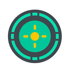 Reticle target icon flat style vector