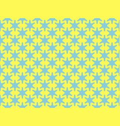 seamless pattern hexagonal blue star on a yellow vector image