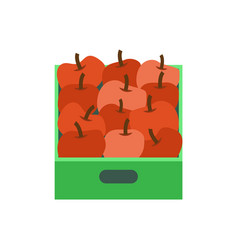 Shelf with apples supermarket grocery store vector
