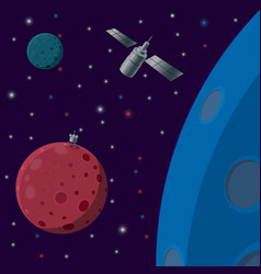 space background plantoids against the stars vector image