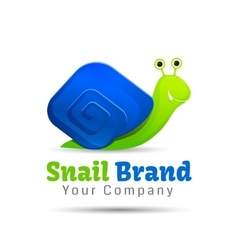 Speedy snail concept of achieving success vector