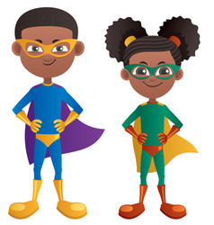 super kids black vector image