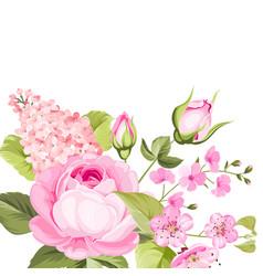 the rose elegant card vector image