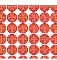 Tomato grill invitation pattern background vector