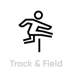 track and field sport activity icon vector image