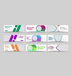 universal set horizontal white web banners vector image