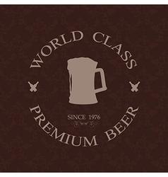 Vintage world class premium beer label stamp vector